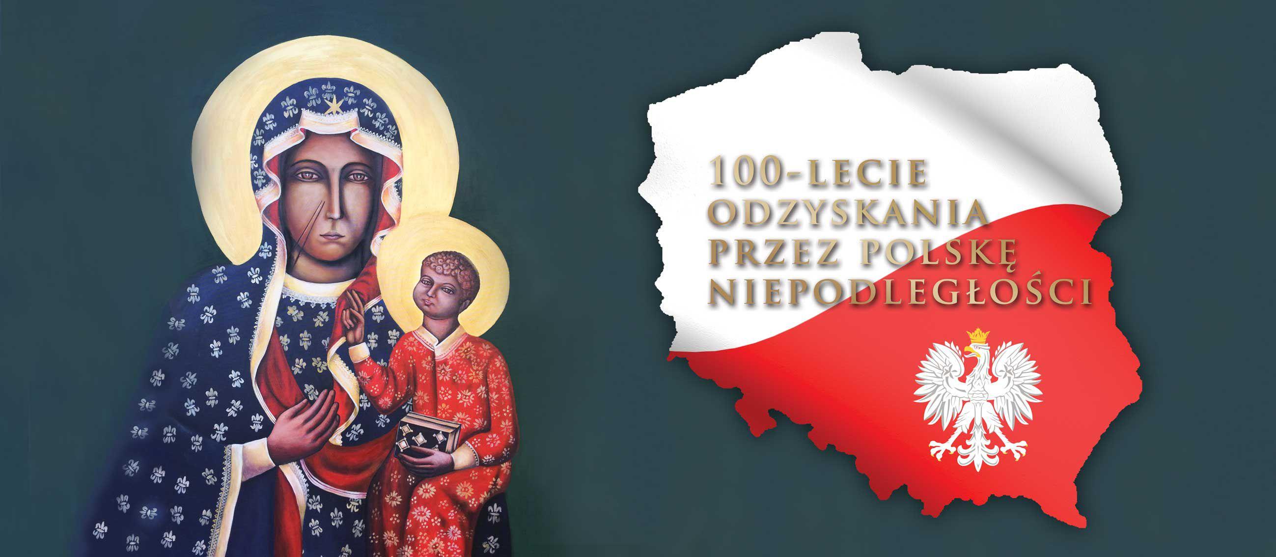 100-lecie odzyskania niepodleglosci - Baner religijny