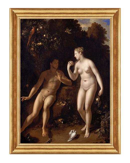 Adam i Ewa w raju - Scena biblijna - Obraz na plotnie
