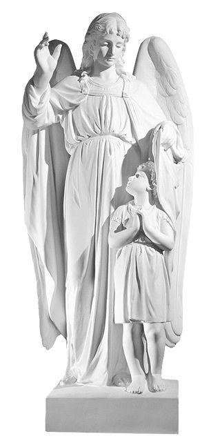 Aniol z dzieckiem - rzezba nagrobna