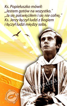 Blogoslawiony Ksiadz Jerzy Popieluszko - Tlo szopki - Baner religijny