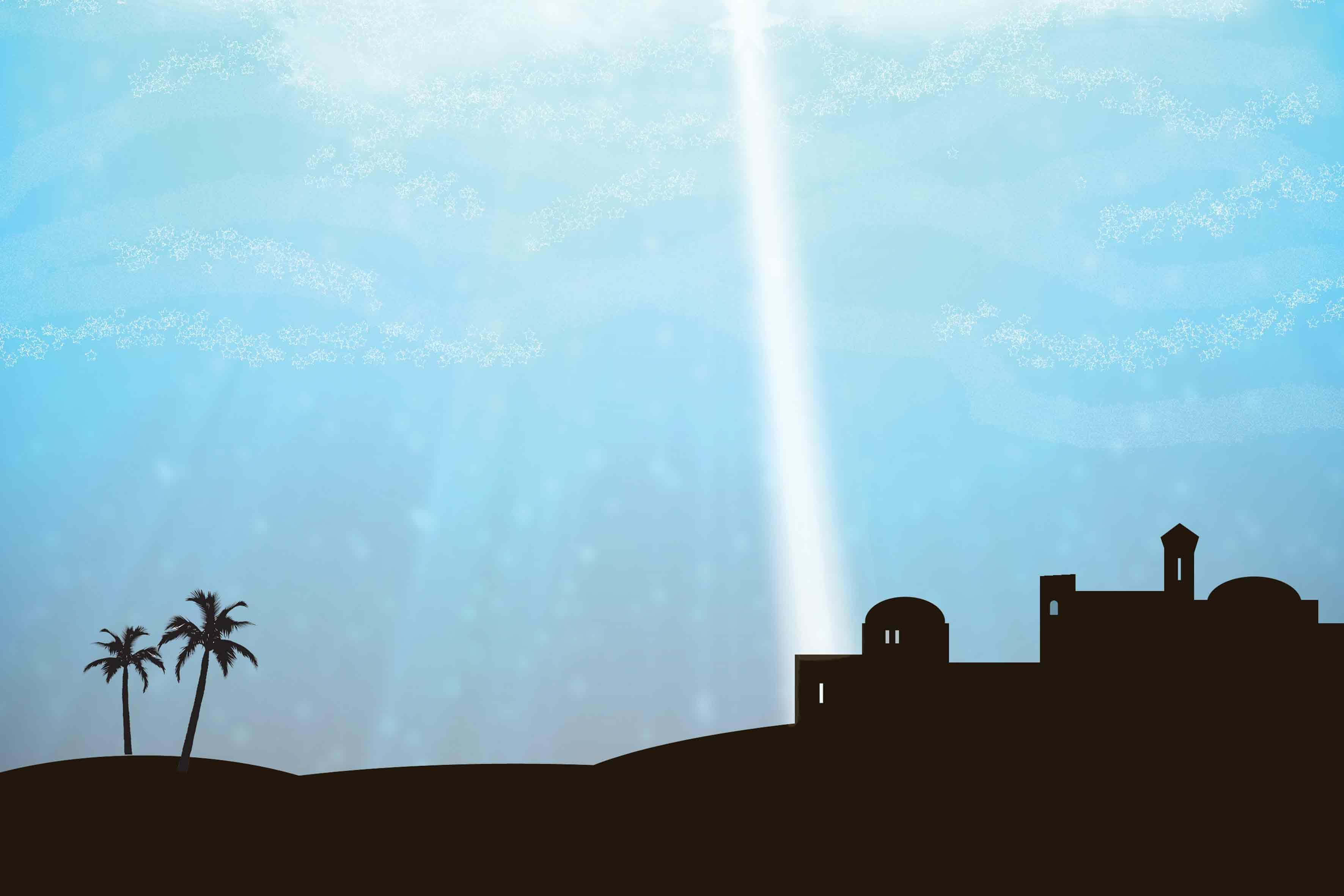 Boze Narodzenie - Tlo szopki - Baner religijny
