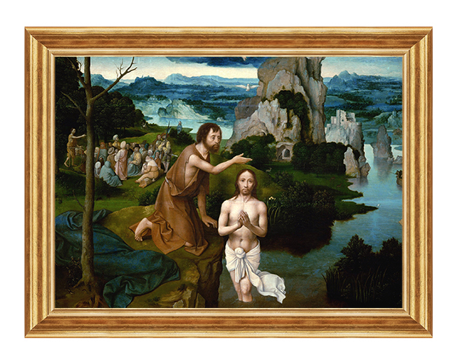 Chrzest Pana Jezusa - Obraz biblijny na plotnie