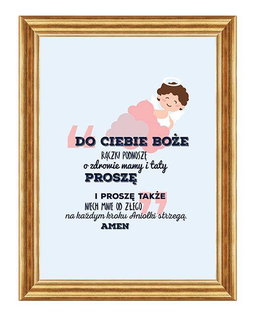 Obraz z modlitwa dla dziecka - Obraz do dzieciecego pokoju