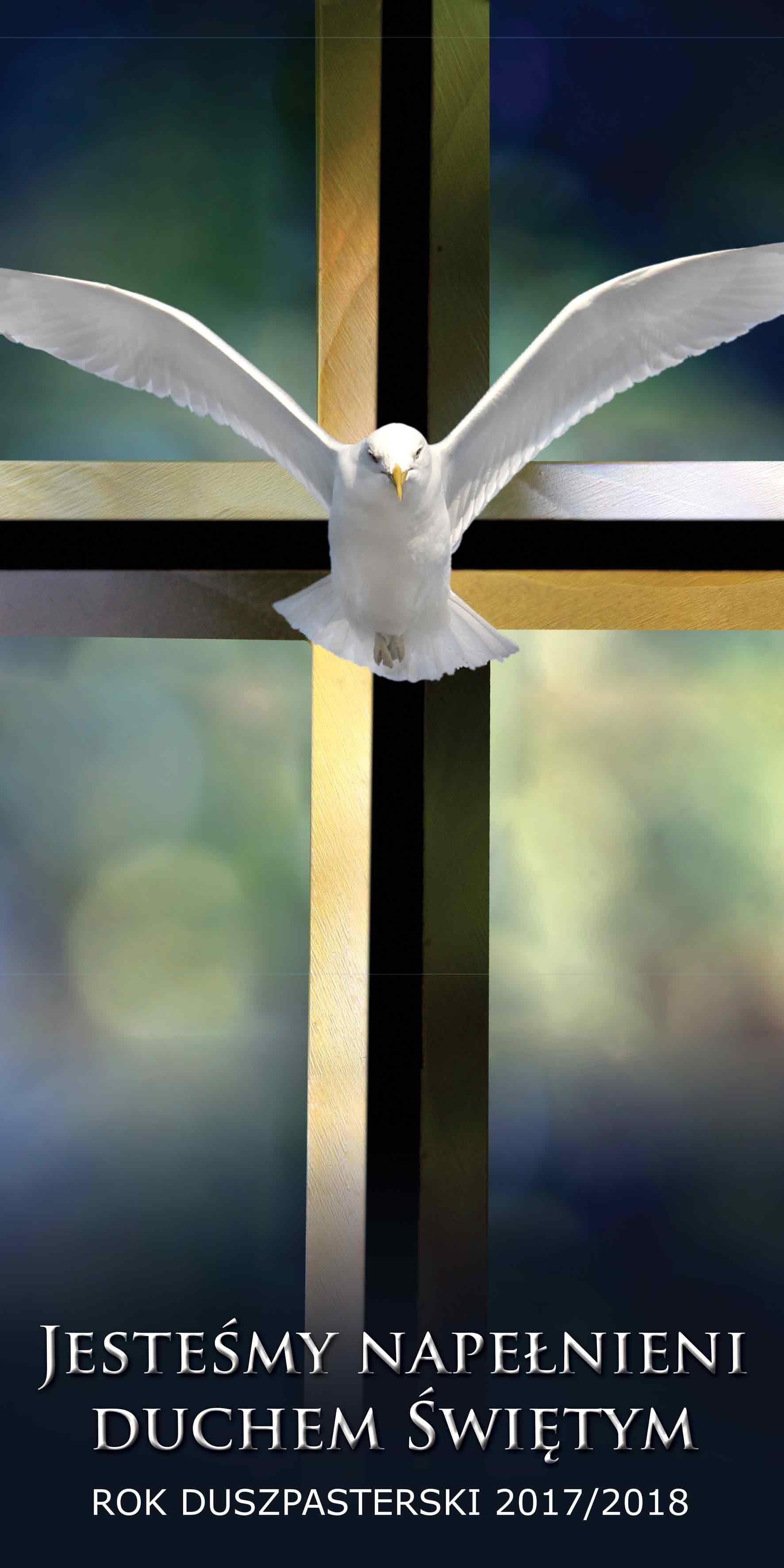 Duch ktory umacnia w milosc - Baner religijny
