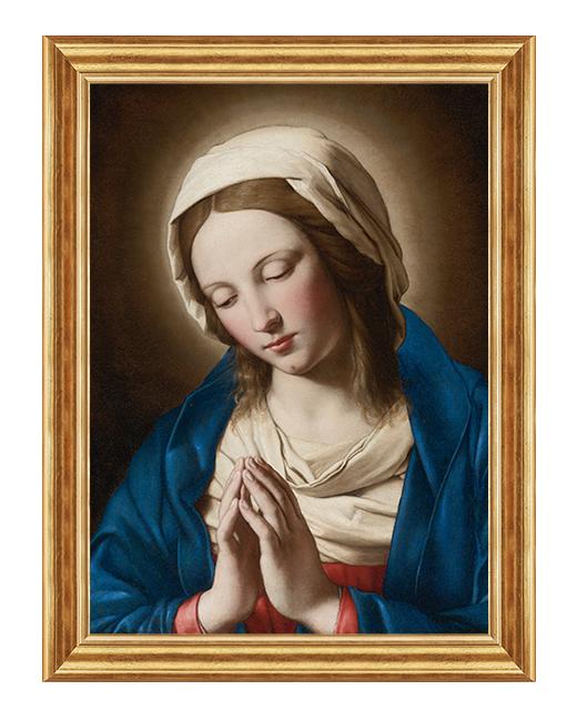 Matka Boza Bolesna w modlitwie - Obraz religijny