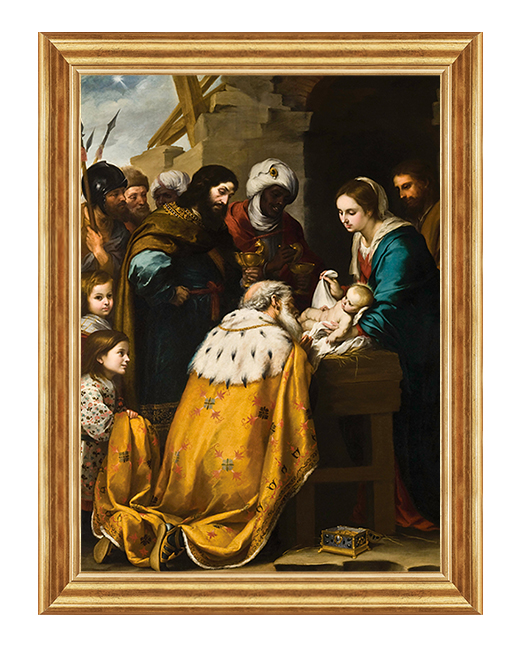 Narodziny Jezusa Chrystusa - Obraz biblijny na plotnie