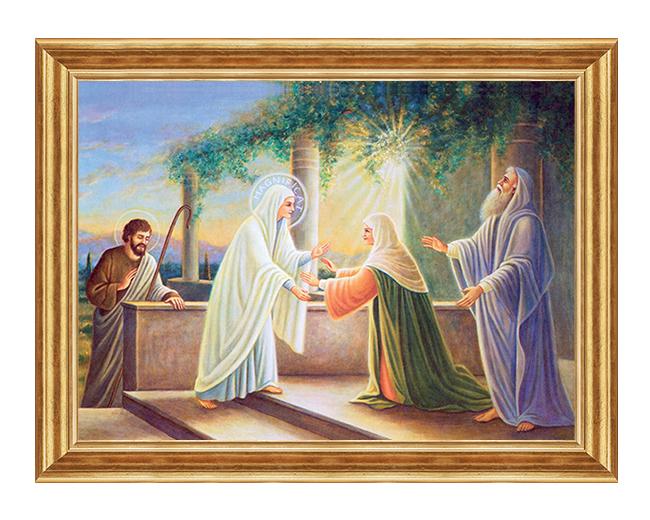 Nawiedzenie Swietej Elzbiety - Scena biblijna