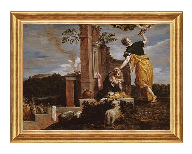 Ofiara Abrahama - Obraz biblijny na plotnie