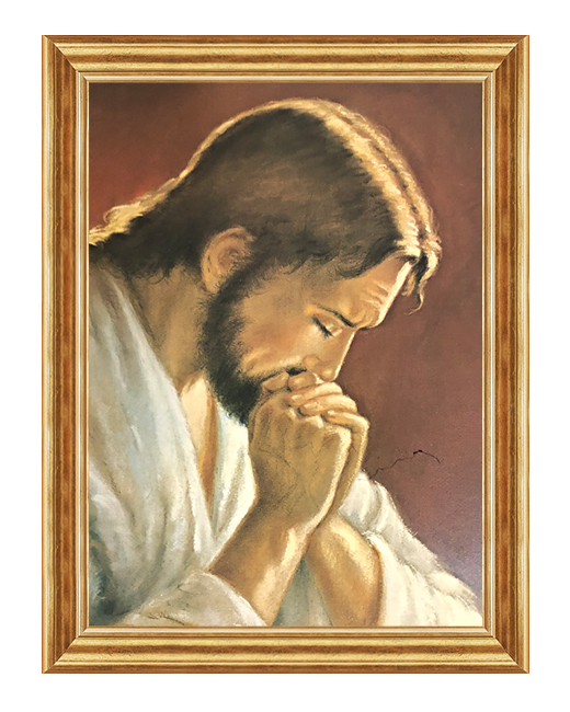 Jezus modlacy sie - Obraz na plotnie