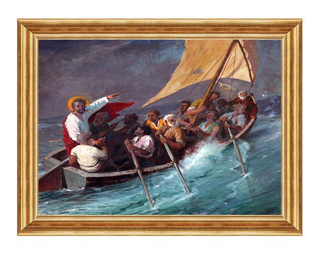 Pan jezus na lodzi - Obraz religijny