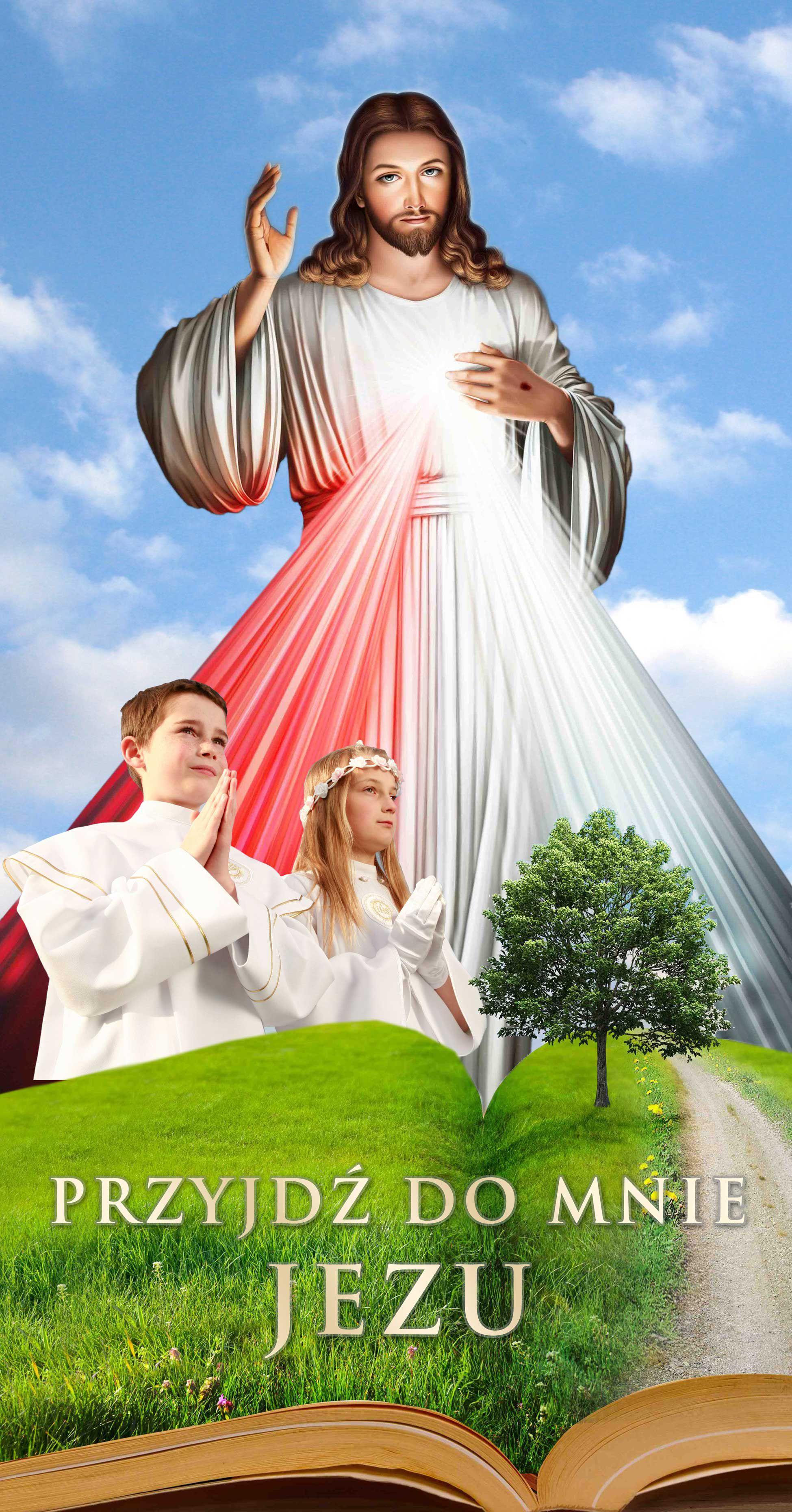 Pierwsza Komunia Swieta - Baner religijny - Wybor rozmiarow