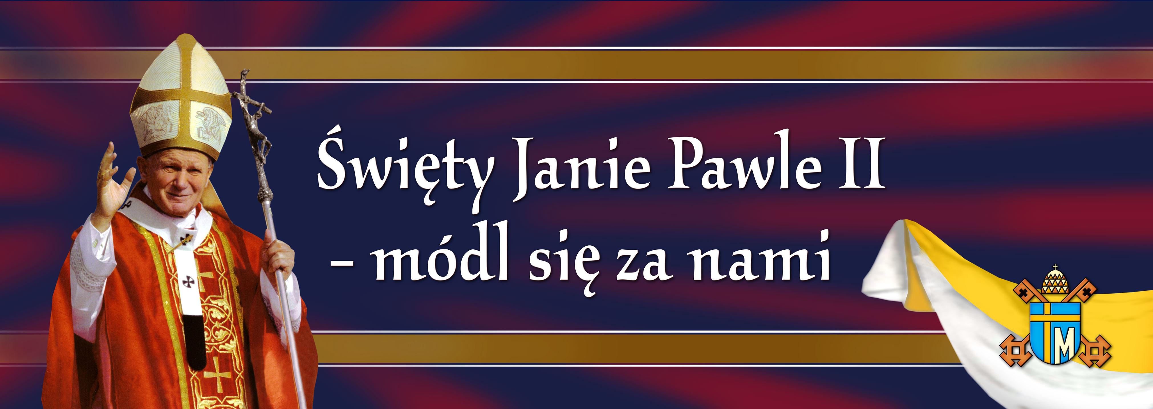 Swiety Jan Pawel II - Baner okolicznosciowy