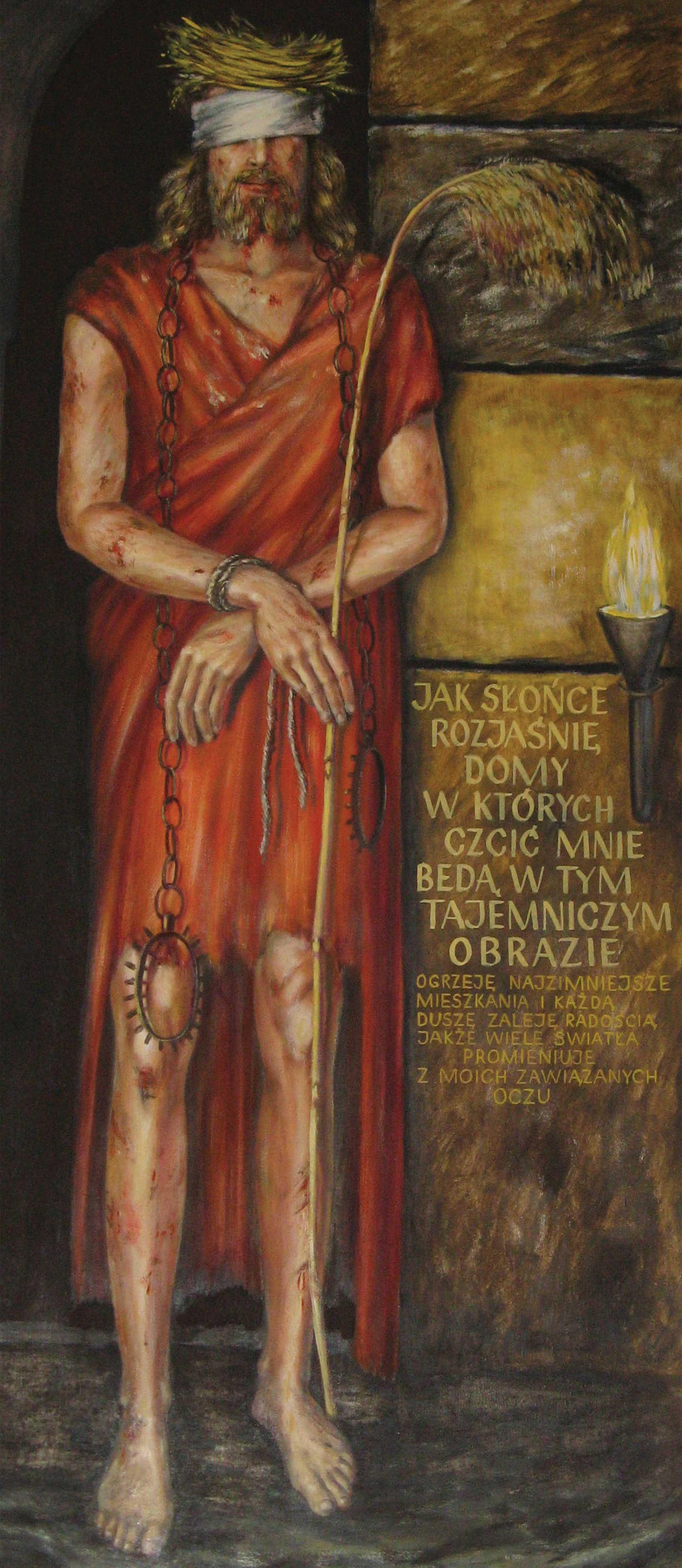 Tlo ciemnicy, dekoracja ciemnicy - baner religijny