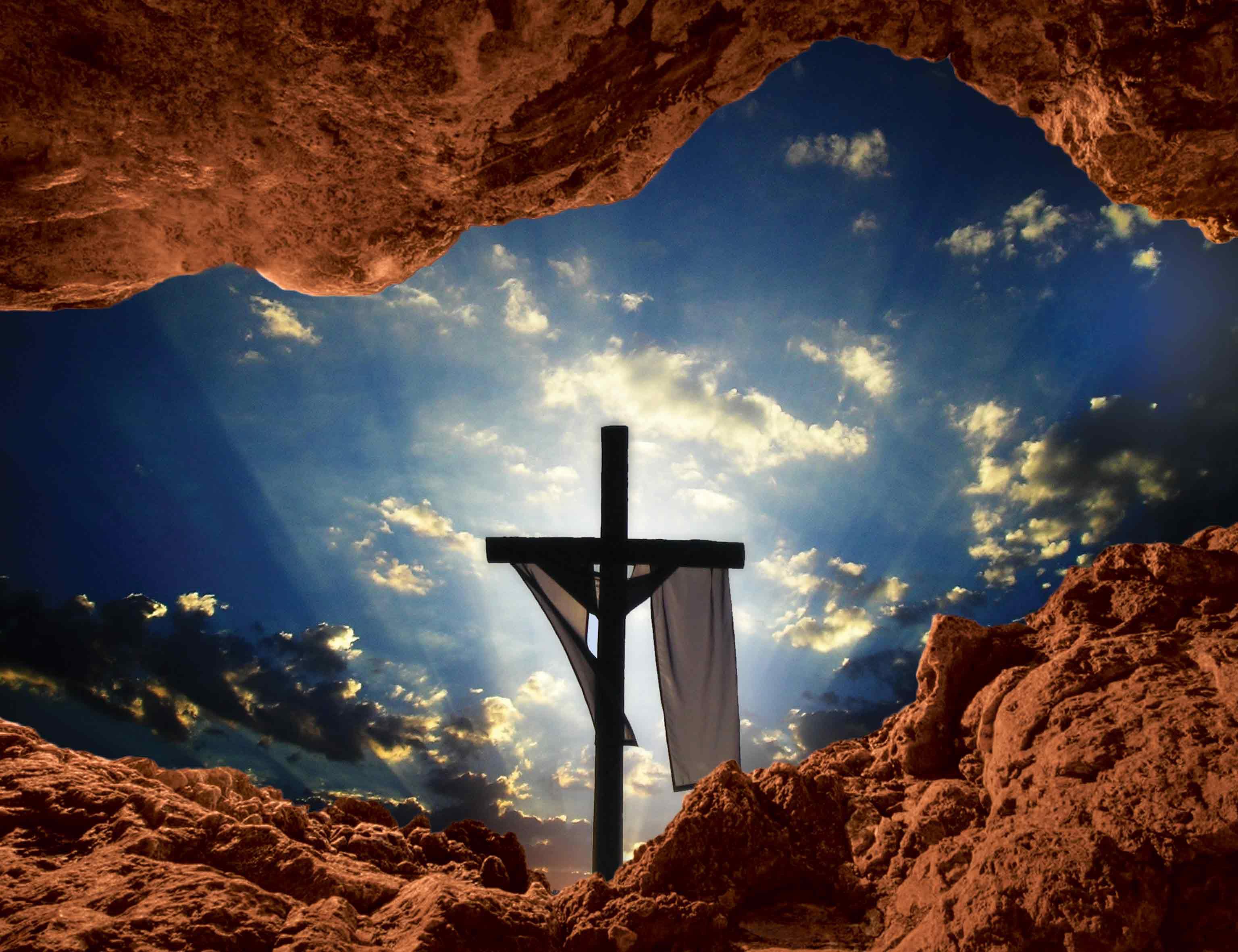 tlo grobu panskiego - Baner religijny