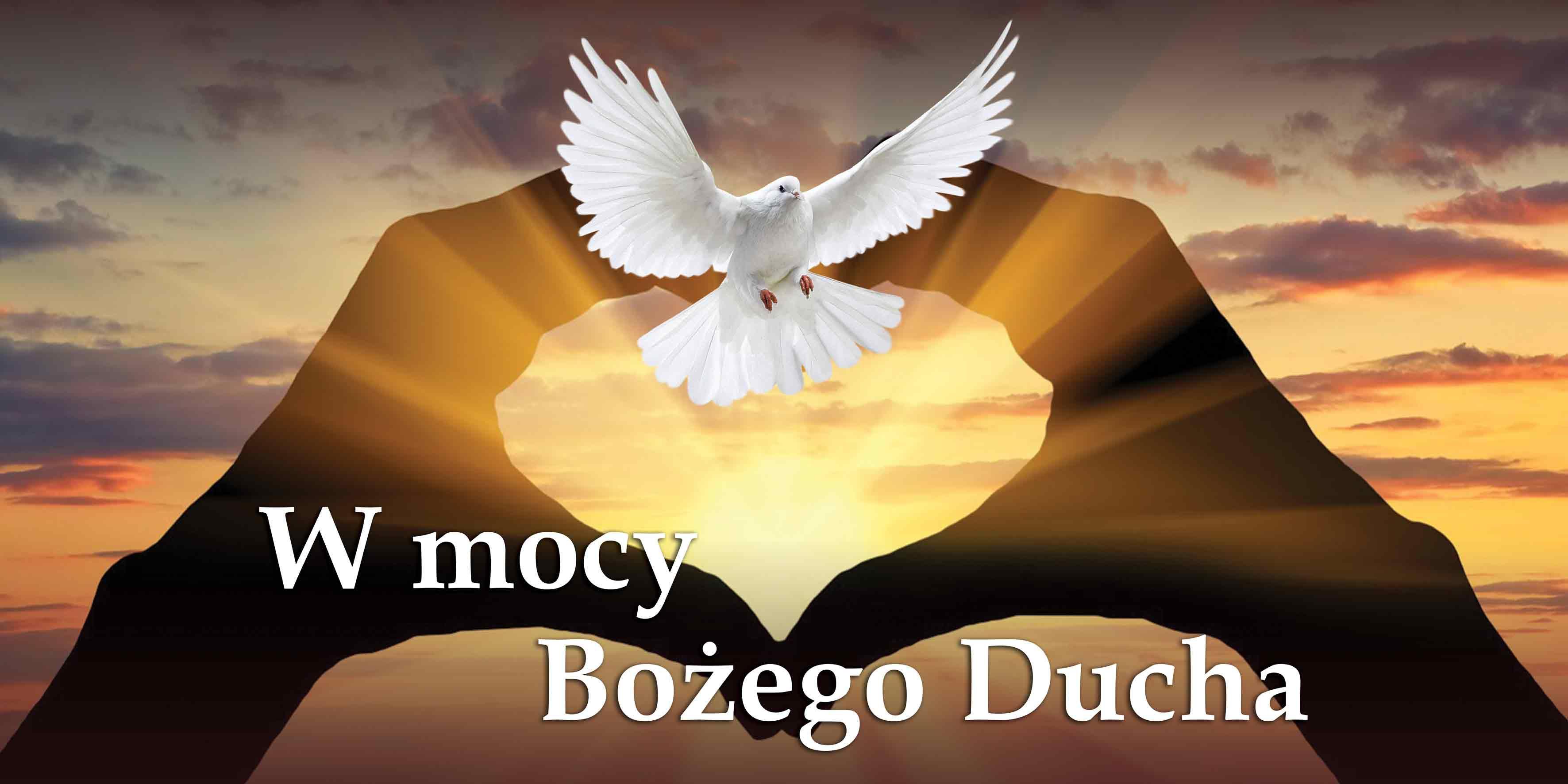 W Mocy Bozego Ducha - Baner z haslem roku liturgicznego