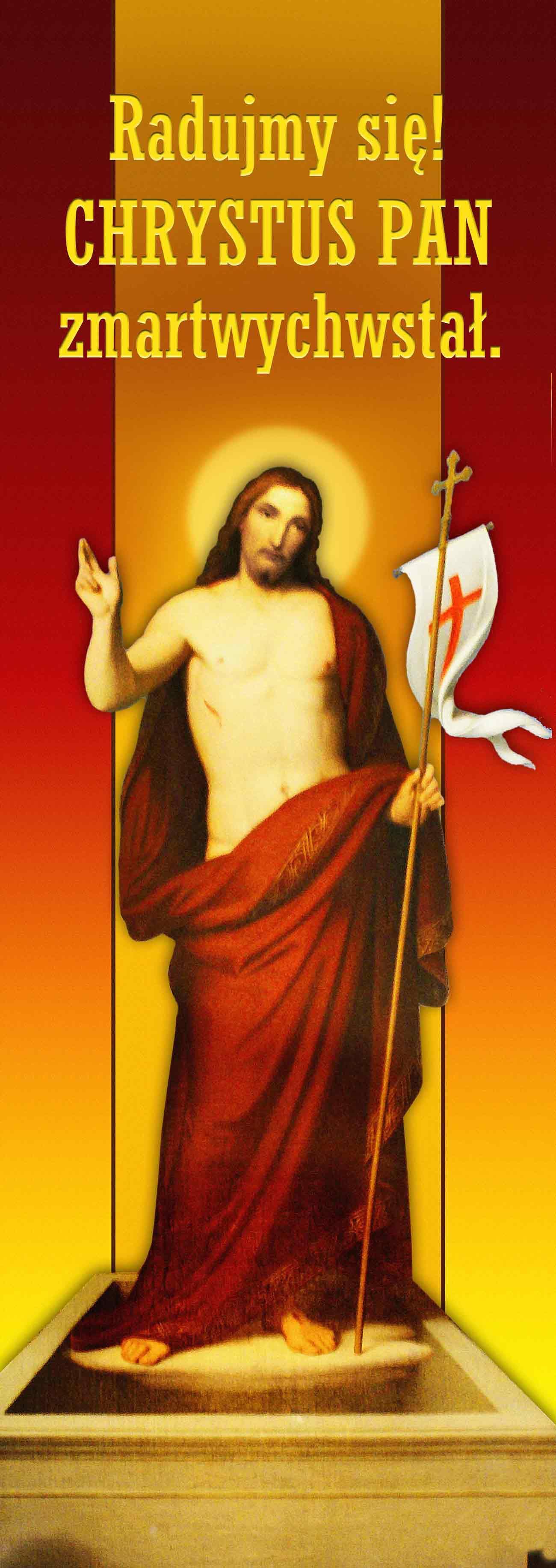 Wielkanoc - Baner religijny - Wybor rozmiarow