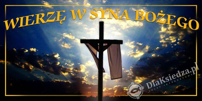 Wierze w Syna Bozego - Baner religijny
