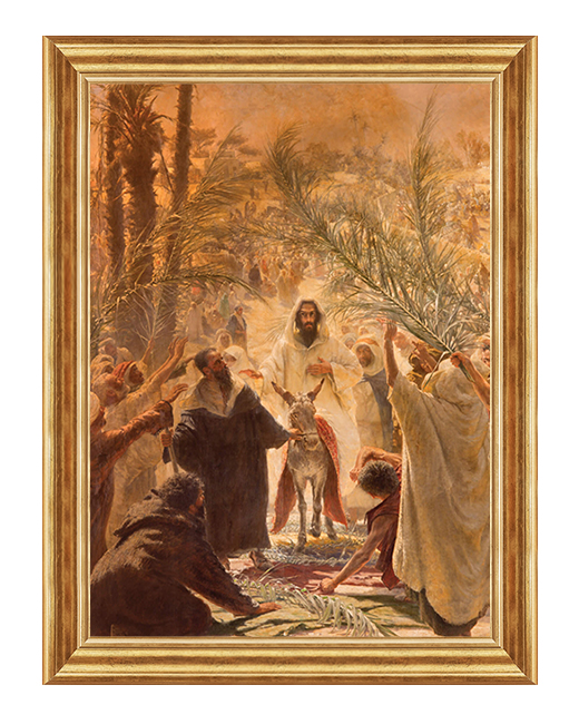 Wjazd do Jerozolimy - Obraz religijny, Obraz na plotnie