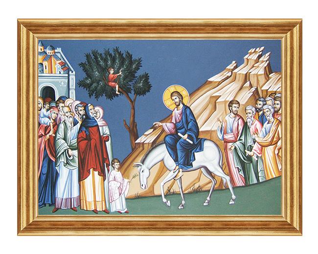 Wjazd Panski do Jerozolimy - Obraz drukowany na plotnie