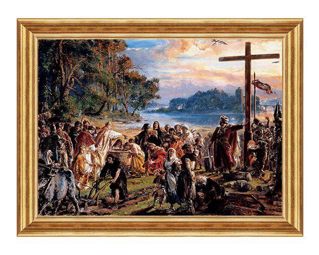 zaprowadzenie chrzescijanstwa - obraz patriotyczny